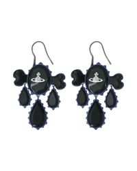 Vivienne Westwood - Black Violet Earrings - Lyst