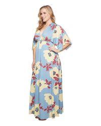 Rachel Pally - Blue Plus Size Long Caftan Dress - Lyst