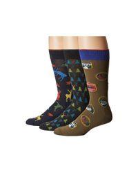 Hue - Blue Big Buck Socks With Half Cushion 3-pack for Men - Lyst