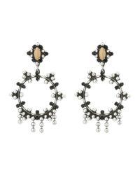 DANNIJO - Black Valentia Earrings - Lyst