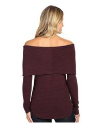 Allen Allen - Purple Off The Shoulder - Lyst