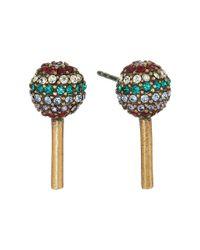Marc Jacobs - Metallic Lollipop Studs Earrings - Lyst