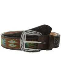 Ariat - Multicolor Ribbon Inlay Belt for Men - Lyst