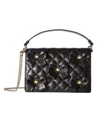 Boutique Moschino - Black Quilted Bow Bag - Lyst
