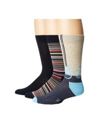 Hue - Blue Bike Socks With Half Cushion 3-pack for Men - Lyst