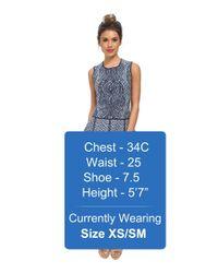 BCBGMAXAZRIA - Blue Anne Jacquard A Line Dress - Lyst