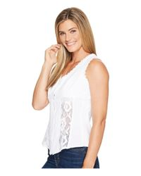 Scully - White Cantina Daneila Short Sleeve Paisley Top - Lyst