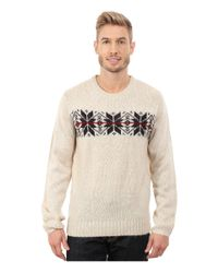 U.S. POLO ASSN. - Multicolor Snowflake Crew Neck Sweater for Men - Lyst