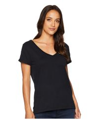 Dylan By True Grit - Black Effortless Short Sleeve V-neck Tee - Lyst