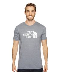 87530095f Lyst - The North Face Short Sleeve Half Dome Tri-blend Tee in Gray ...