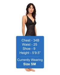 Yummie - Black Latrice All Over Lace Slip - Lyst