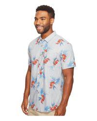 Billabong - Blue Vacay Short Sleeve Woven Top for Men - Lyst