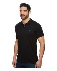 U.S. POLO ASSN. - Black Jersey Polo Shirt for Men - Lyst