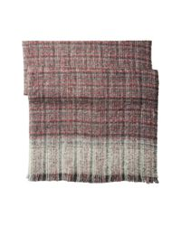 Lauren by Ralph Lauren - Black Boucle Textured Check Scarf - Lyst