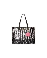 Betsey Johnson - Black 2-in-1 East/west Tote - Lyst