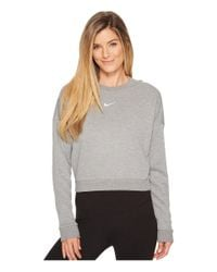 Nike - Gray Dry Long Sleeve Crop Training Top - Lyst