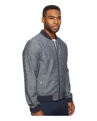 Original Penguin - Blue Chambray Ma1 Bomber Jacket for Men - Lyst