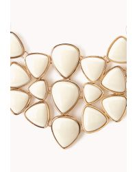 Forever 21 - Natural Dazzling Faux Stone Bib Necklace - Lyst
