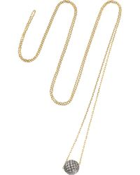 Noor Fares - Metallic Disco Ball 18-Karat Gold Diamond Necklace - Lyst