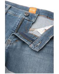 BOSS Orange - Blue Shorts In Stretch Cotton Blend In Vintage Style: 'orange J70 Phoenix' - Lyst