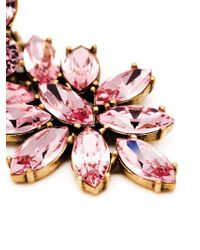 Oscar de la Renta - Pink Bold Teardrop Crystal-embellished Clip-on Earrings - Lyst