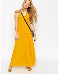 ASOS - Yellow Pom Pom Cami Maxi Dress - Lyst