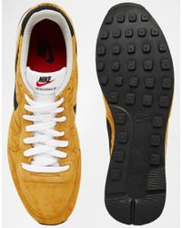 Nike | Yellow Internationalist Leather Trainers 631755-700 for Men | Lyst