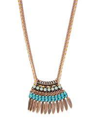 Panacea | Blue Agate Pendant Necklace | Lyst
