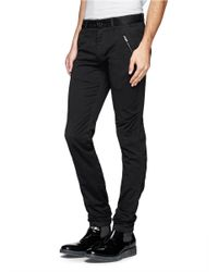 The Viridi-anne - Black Twill Skinny Pants for Men - Lyst