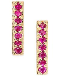 Macy's - Metallic Ruby Linear Drop Earrings (1/8 Ct. T.w.) In 14k Gold - Lyst