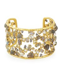 Alexis Bittar | Metallic Elements Confetti Cuff With Spiked Crystals for Men | Lyst