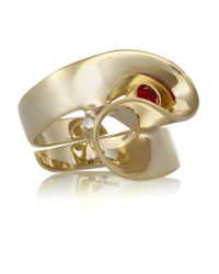 Etro | Metallic Gold-plated Crystal Ring | Lyst