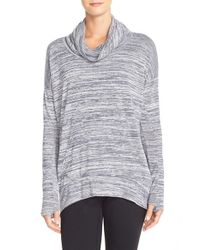 Bench - Blue 'addition' Space Dye Cowl Neck Top - Lyst