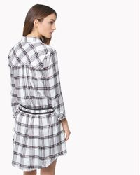 Veronica Beard | Purple Marcy Plaid Tie-waist Shirtdress | Lyst