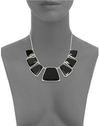 Karen Kane | Black Reversible Stone Collar Necklace | Lyst