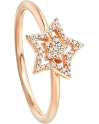 Astley Clarke | Metallic Super Star 14ct Rose-gold And Diamond Ring | Lyst