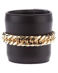 Giuseppe Zanotti | Black Chain Embellished Cuff | Lyst
