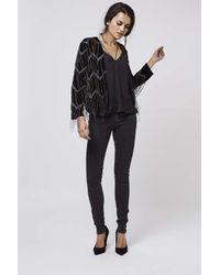 TOPSHOP | Black Premium Velvet Jacket | Lyst