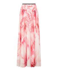 Karen Millen | White Floral-print Maxi Skirt | Lyst