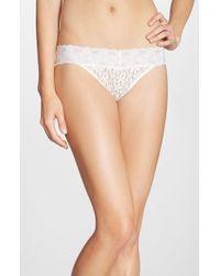 Wacoal - White 'halo Lace' Bikini - Lyst