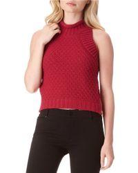 Sam Edelman | Red Mila Cotton Crop Top | Lyst