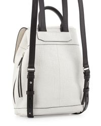 Rag & Bone - White Mini Pilot Crackled Leather Backpack - Lyst