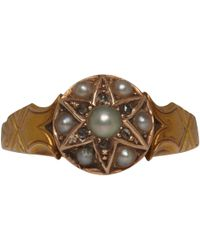 Annina Vogel - Metallic 15ct Gold Diamond and Pearl Star Victorian Ring - Lyst