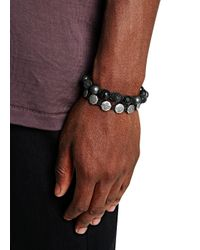 Nialaya | Black Beaded Cord Bracelet for Men | Lyst