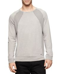 Calvin Klein Jeans | Gray Acid Wash Pullover for Men | Lyst