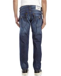 True Religion - Blue Slim Fit Flap Jeans for Men - Lyst