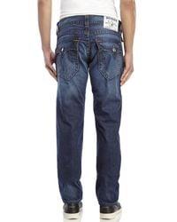 True Religion - Blue Slim Fit Flap Jeans for Men - Lyst