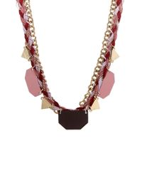 Pieces - Pink Necklace / Longcollar - Lyst