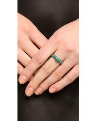 Aurelie Bidermann - Blue Turquoise Curve Ring - Gold - Lyst