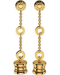 BVLGARI - B.zero1 18ct Yellow-gold Pendant Earrings - Lyst